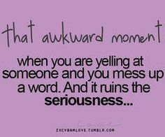 That awk moment