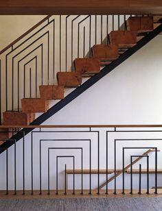 Fantastic railing in a Villa by IKB: Ike Kligerman Barkley Architects, New York & San Francisco