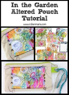 Altered Pouch Tutorial with Roben-Marie Smith   & tutorial