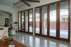 Concrete floors with sealer only; no stain or scoring.