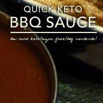 Quick Keto Barbecue Sauce – Low Carb   Sugar Free
