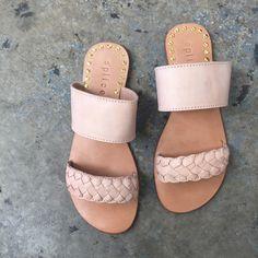 Splice X Splice Boutique The Ann Braided Slide Sandal- Natural
