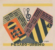 Fortunato Depero, le Province italiane, Pesaro Urbino (1938)