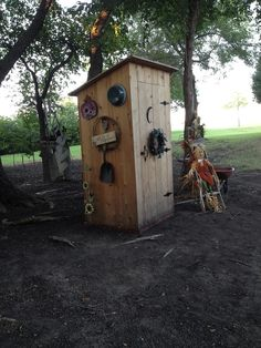 """Garden tool """"outhouse"""" my dad made for my mom.  So cute! - Marcy"""
