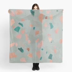 Italian Pattern, Scarf Design, Terrazzo, Top Artists, All The Colors, My Arts, Peach, Colours, Quilts