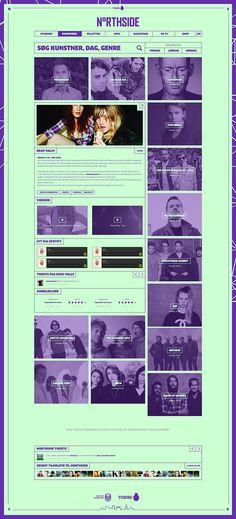 Northside 2014 - Website on Behance