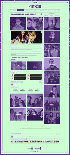 Northside 2014 - Website on Behance
