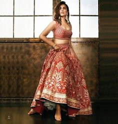 Parineeti Chopra, Femina Wedding Times, Anniversary on Pantone Canvas Gallery Wedding Dresses Short Bride, Indian Wedding Outfits, Indian Outfits, Short Dresses, Indian Clothes, Bridal Outfits, Ball Dresses, Pakistani Bridal, Bridal Lehenga