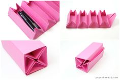 Learn how to make a useful origami accordion box or roll up box! This origami gift box has 4 boxes which open as you unwrap the box, or they can be locked.