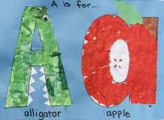 Preschool Letter Aa: A is for Alligator a is for apple