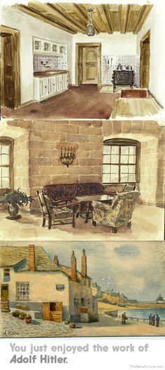 adolf hitler paintings