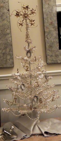New Year Tree. Number ornaments on holiday tree. Transiti… – Home Decoration Silver Christmas, Victorian Christmas, Christmas Love, Beautiful Christmas, Vintage Christmas, Christmas Holidays, Christmas Crafts, Christmas Trees, Xmas Tree