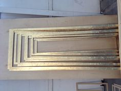 Gilded mouldings for our doors in the Green Room. What a splendid sight!