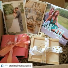 #Repost @sterlingimageworks with @repostapp. #PresentationMatters ・・・ One more of Josh and Shelby's wedding photo package because we found the cutest ribbon! We usually do Polaroids on the wedding day that we send but we decided to mix it up for their wedding! #arbride #arkansasbride #arkansaswedding #arkansasphotographer #sterlingimageworks  Thanks @photoflashdrive for our amazing flash drives and custom wood boxes! ❤️❤️