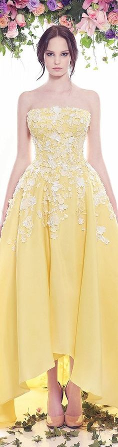 yellow maxi dress @roressclothes closet ideas women fashion outfit clothing style apparel Fadwa Baalbaki couture 2016 spring summer