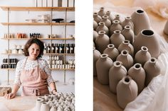In The Studio With Courtney Hamill Of Honeycomb Studio - Front + Main Intense Love, Backyard Studio, Old Farm Houses, Small Sculptures, Home Studio, Blue Ridge, Bud Vases, Honeycomb, Decorative Plates