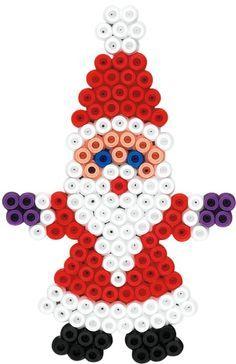 Hama Mikulás (vasalható gyöngy) - ezt én is kipróbálom! Holnap érkeznek a gyöngyeim.: