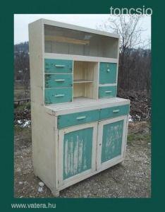 Romantikus,retro,fenyő konyha szekrény - 6625 Ft