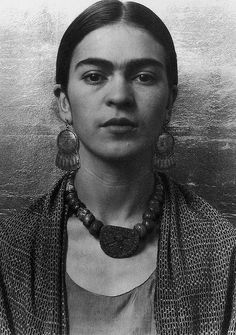 Frida Kahlo Black and White Photograph