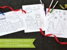 【創意動手作-節慶】聖誕節免費下載著色紙