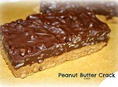 Chocolate Peanut Butter 'Crack' Bars