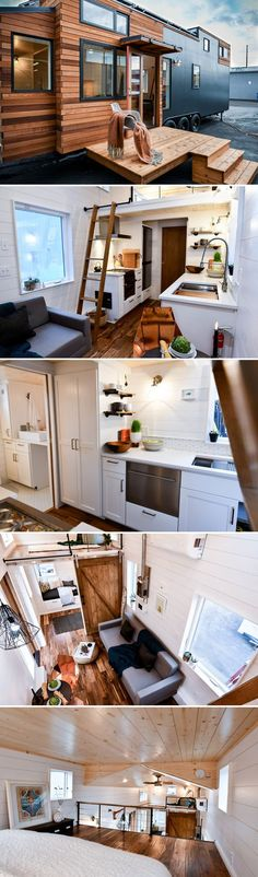 Small House Living, Small Tiny House, Modern Tiny House, Tiny House Cabin, Tiny House On Wheels, Tiny House Design, Cozy House, Tiny Tiny, Tiny House Movement