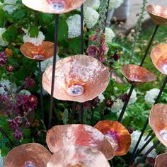 Copper Garden Art: Outdoor Sculpture, Statue and Decor Pieces - Garten Kunst Outdoor Sculpture, Outdoor Art, Outdoor Plants, Outdoor Gardens, Outdoor Living, Indoor Outdoor, Copper Crafts, Copper Decor, Copper Art