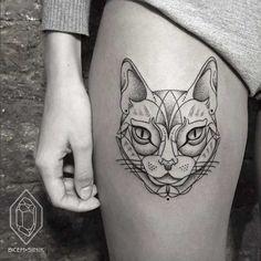 Creative Dotwork Tattoo
