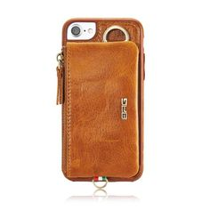 Sostenedores del teléfono Genuine Leather Case For Apple IPhone 7 Plus 5.5inch Multifunction Back Cover Card Holder Coque For iPhone 7Plus Case Phone Bag <3 Para obtener más información, haga clic en la imagen