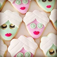 Treat yourself with delicious creations by A spa day bridal shower with friends sounds splendid! Tag who would you share a spa day with! Spa Bachelorette Parties, Bachelorette Party Cookies, Spa Birthday Parties, Bachlorette Party, Slumber Parties, Spa Birthday Cake, Disney Bachelorette, Teen Parties, Spa Day Party