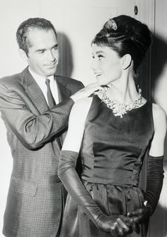Audrey Hepburn Wearing Tiffany Diamond Necklace