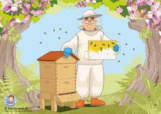 Interactieve praatplaat voor kleuters, thema bijen, by juf Petra van kleuteridee, met veel informatieve video's