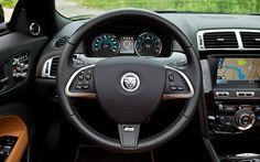 2012 jaguar  steering wheel brown sport multifunction 3 leather interior car badge matte classy luxury