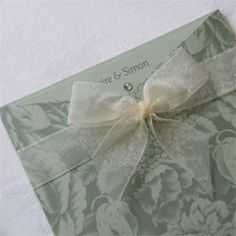Mississippi Wedding Stationery - Patterned Wallet Pocket Invitation £3.00