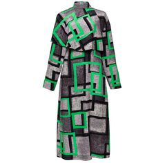 Loewe Green Airbrush Square Cape Dress ($3,150) ❤ liked on Polyvore featuring dresses, long sleeve black dress, black silk dress, black dress, long sleeve knee length dress and sheath dress