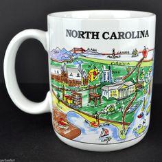 North Carolina Harvey Hutter A View of the World Coffee Mug Tea Cup CityMugs
