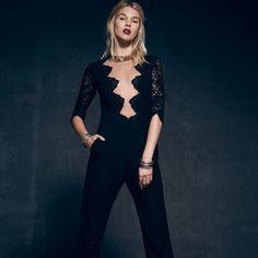 2d723d1f06a The For Love  amp  Lemons Noir Jumpsuit in Black is a lace one-piece
