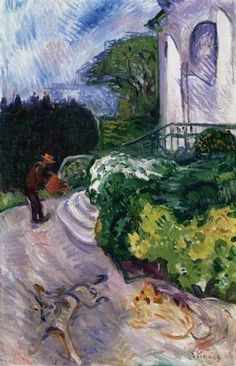 Edvard Munch - Gardener in Dr. Linde's Garden, 1903.