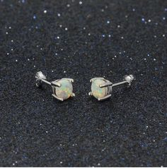 Earring Type: Stud EarringsFine or Fashion: FashionMetals Type: Silver PlatedStyle: ClassicShape\pattern: RoundMaterial: OpalStone Color: WhiteOccasion: Anniversary,Engagement,Gift,Party,WeddingGift: Gift For Party Opal Earrings, Opal Jewelry, Round Earrings, Engagement Gifts, Gifts For Women, Jewelry Design, Sterling Silver, Classic, Engagement Presents