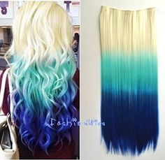 ombre hair styles blonde and blue