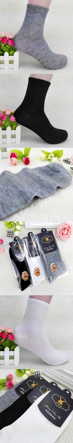 Brand 3PCS High Quality Mens Business Cotton Socks Casual White Black Gray  Socks Solid Color Hot Sale Miesten sukat #DD