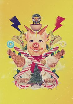 Christmas card 2014 on Behance in Collages