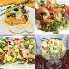 Aquí tienes ideas para abrir tu mesa en esas ocasiones especiales con unas vistosas ensaladas de fiesta sencillas pero con toques de alegría.