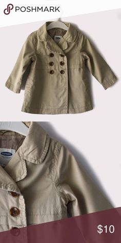 Old Navy Solid Lightweight Trench Coat Old Navy | available in sizes 2T and 3T | front button closure | fully lined | all pictures taken by me product shown as is Old Navy Jackets & Coats