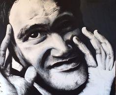 Quentin Tarantino 1.m x 1.20m  Acrylic paint on canvas