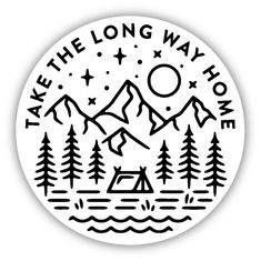 Take the Long Way Home Sticker This sticker is perfect for your car, laptop or water bottle! Show your PNW pride! Tumblr Stickers, Cool Stickers, Laptop Stickers, Jeep Stickers, Homemade Stickers, Long Way Home, Snapchat Stickers, Aesthetic Stickers, Doodle Art