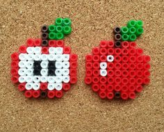 Set of magnets apple apples Hama beads by NiteOwl15 on Etsy, €5.00