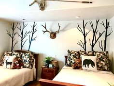 Kids bedroom- Modernized hunting themed bedroom