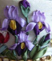 Silk Ribbon Embroidery: Silk Ribbon Embroidery Tutorial - Small Iris