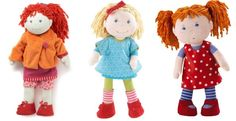 No plastic here! HABA dolls for kids